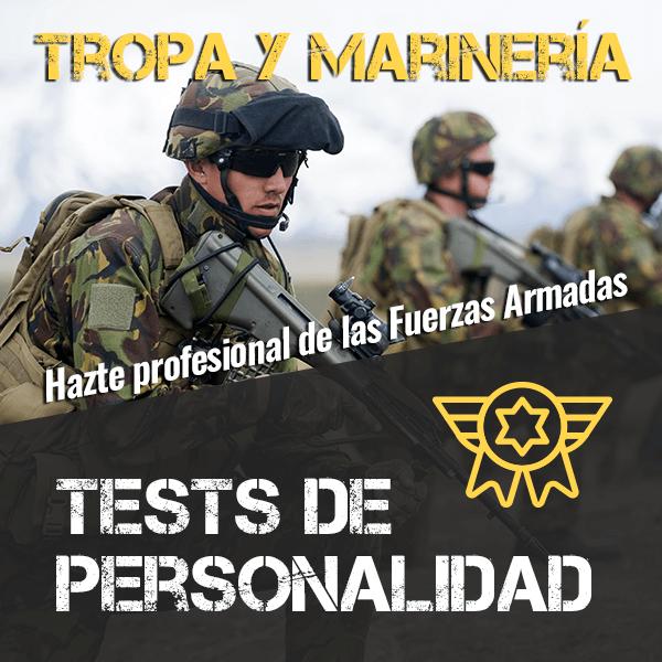 Tests de personalidad (simulacros) para Tropa y Marinería