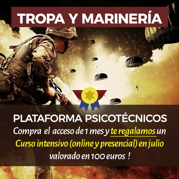 Curso online y presencial + plataforma psicotécnicos de Tropa y Marinería - Academia Claustro