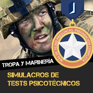 Tests psicotécnicos para la preparación de tropa y marinería - Claustro